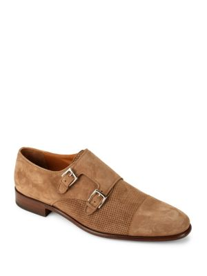 Wesley Leather Monk Shoes Bruno Magli