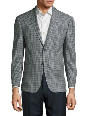 Check Wool Sportcoat Michael Kors