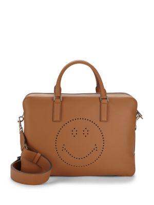 Walton Smiley Leather Messenger Bag Anya Hindmarch