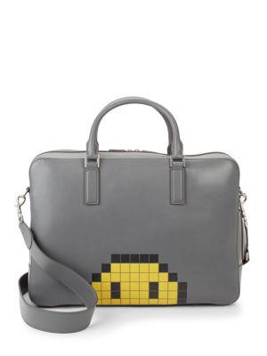 Walton Pixel Smiley Briefcase Anya Hindmarch