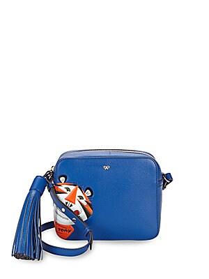 Tiger Leather Crossbody Bag