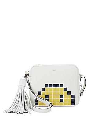 Pixel Leather Crossbody Bag