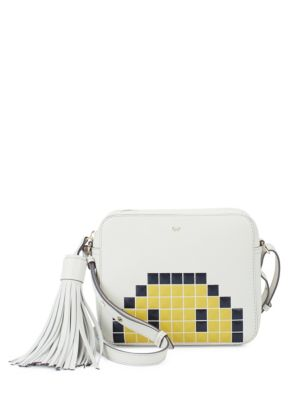 Pixel Leather Crossbody Bag Anya Hindmarch