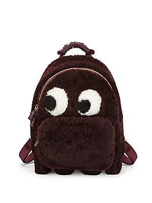 Mini Ghost Faux Fur Backpack