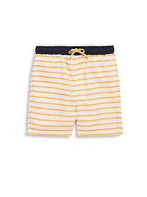Little Boy's Drake Tree Swim Shorts