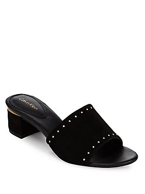 Dixie Leather Slide Sandals
