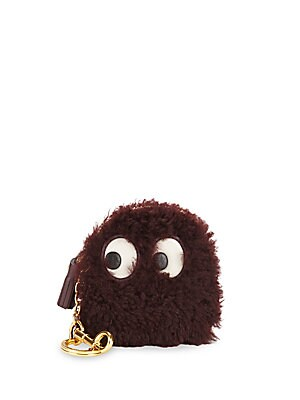Ghost Shearling Coin Purse