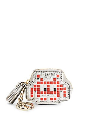 Space Invaders Robot Leather Coin Purse
