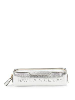 Metallic Leather Pencil Case Anya Hindmarch