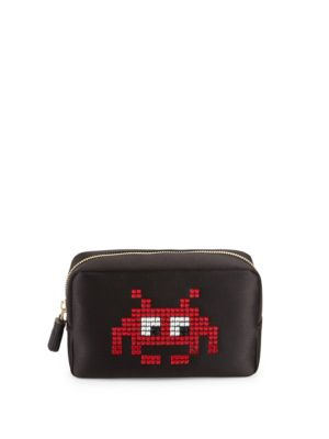 Pixel Satin Makeup Bag Anya Hindmarch