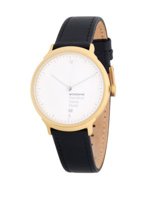 Leather Strap Watch Mondaine