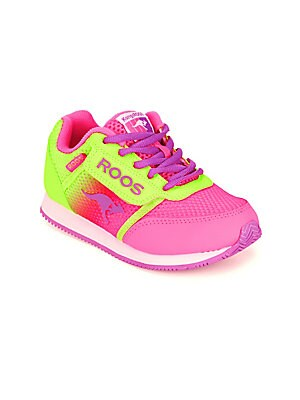 Girl's Ombre Lace-Up Sneakers
