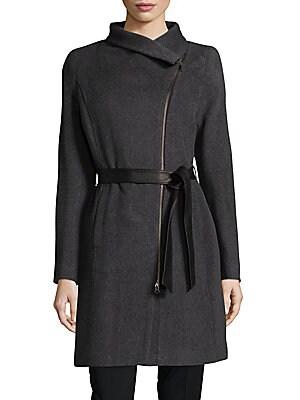 Zip-Up Belted Coat