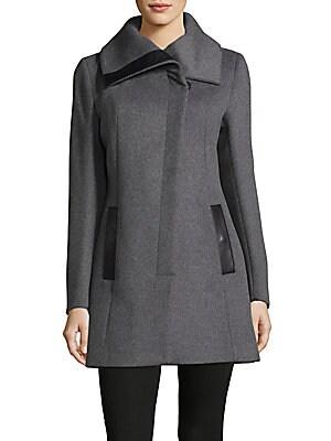 Asymmetrical Buttoned Coat