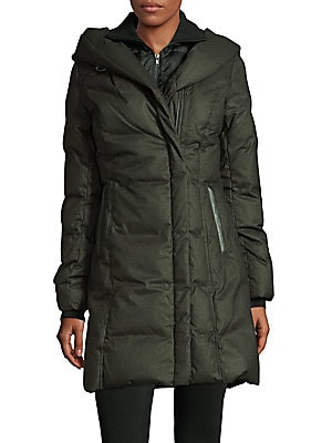 Zip-Up Hooded Coat