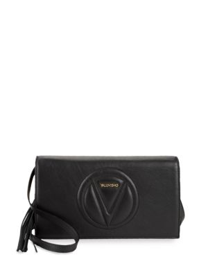 Lena Covertible Leather Clutch Valentino by Mario Valentino