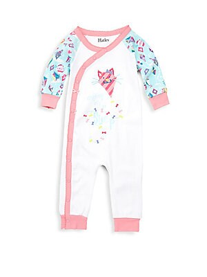Baby's Colorful Kitty Print Cotton Bodysuit