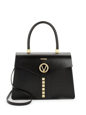 Anais Studded Leather Satchel Valentino by Mario Valentino