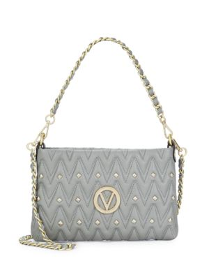 Studded Leather Shoulder Bag Valentino by Mario Valentino