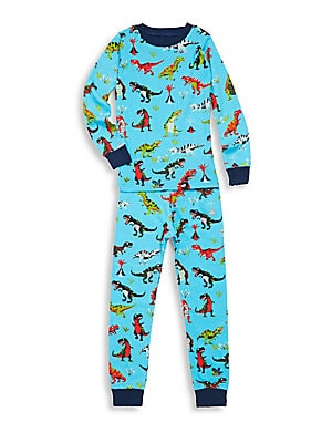 Little Boy's & Boy's Two-Piece Roaring T-Rex Tee & Pants Set