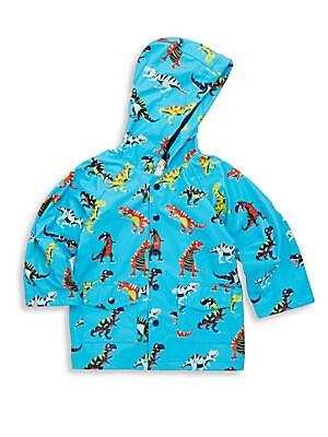 Little Boy's Roaring T-Rex Raincoat