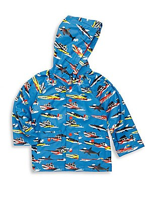 Little Boy's Monster Boats Raincoat