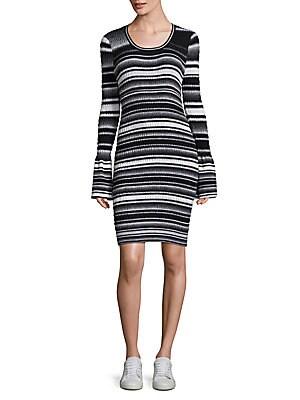 Smocked Striped Dress