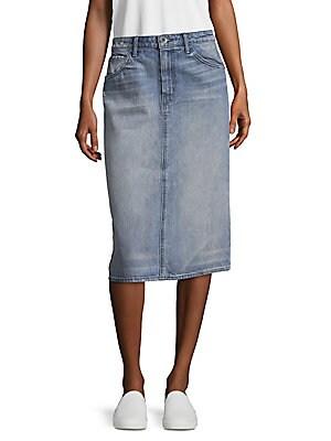 Knee Length Cotton Skirt