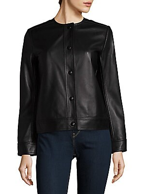 Snap Leather Jacket