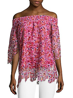 Printed Off Shoulder Blouse