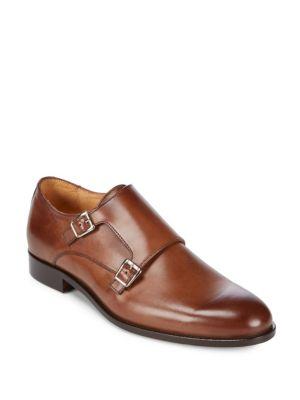Almond Toe Leather Monk Strap Saks Fifth Avenue