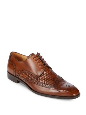 Textured Leather Oxfords Saks Fifth Avenue
