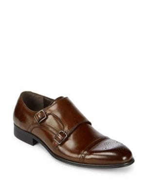 Double Monk-Strap Leather Dress Shoes Kenneth Cole