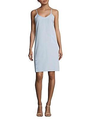 Cotton Sleeveless Wrap Cotton Shift Dress