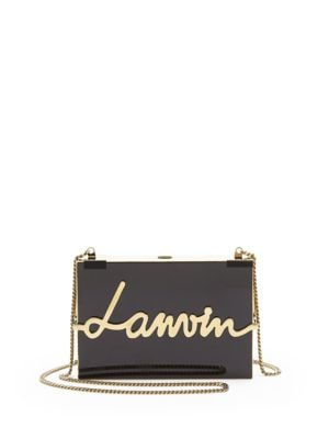 Lacquered Resin Logo Clutch Lanvin