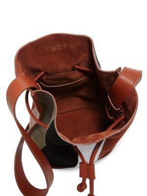 DEREK LAM Jay Nappa Leather Bucket Bag in Rust