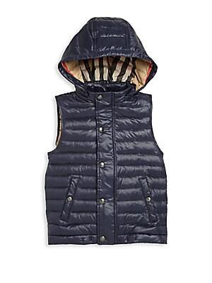 Little Boy's Hooded Puffer Vest