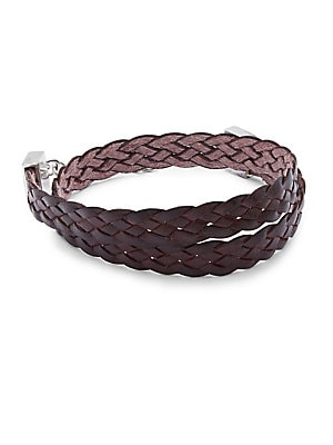 Wrap Burnished Leather Bracelet