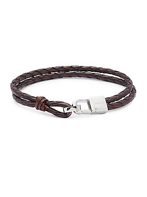 Sterling Silver & Classic Leather Bracelet