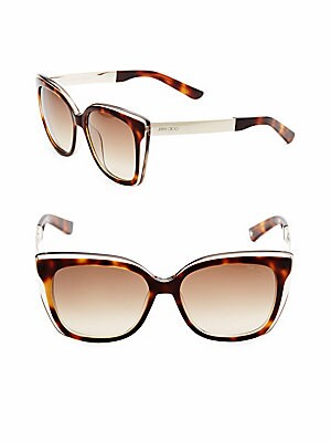 55MM Octavia Two-Tone Square Sunglasses