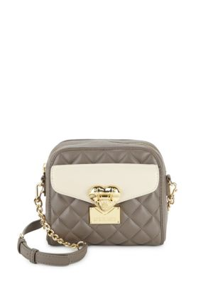 Quilted Faux Leather Crossbody Bag Love Moschino