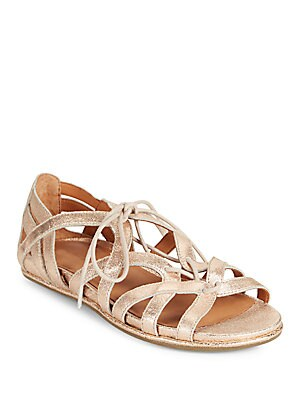 Oona Lace-Up Leather Sandals