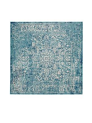 Evoke Frieze Square Blue Rug