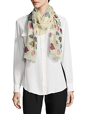 Hearts Silk Scarf