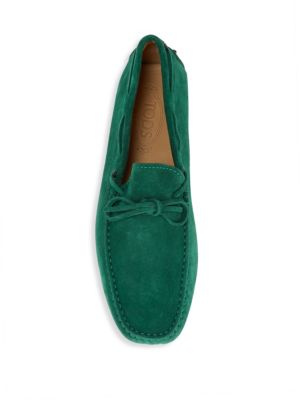 TOD'S Suede Tie Moccasins