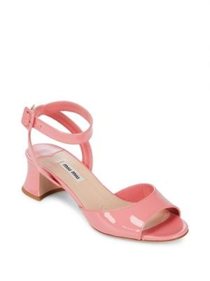 Leather Open-Toe Sandals Miu Miu