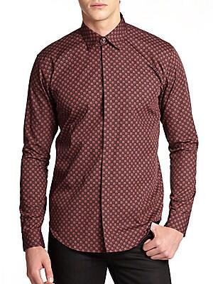 Morten Geometric Floral Woven Shirt