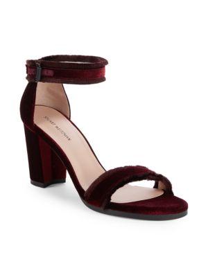 Frayed Ankle Strap Sandals Stuart Weitzman