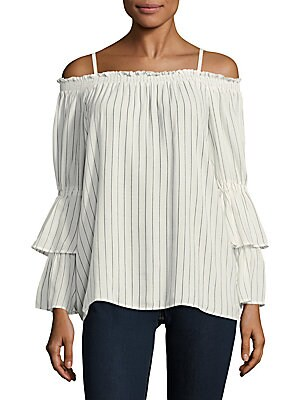 Off Shoulder Layered Sleeves Blouse