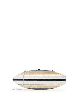 Stripe Surfboard Crystal Clutch